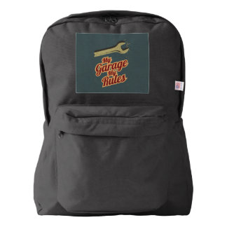 My Garage My Rules American Apparel™ Backpack