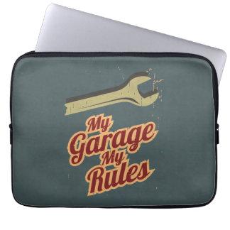 My Garage My Rules Computer Sleeve
