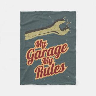 My Garage My Rules Fleece Blanket