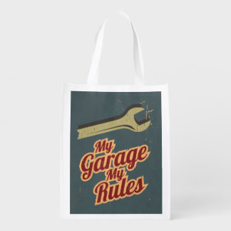My Garage My Rules Grocery Bag