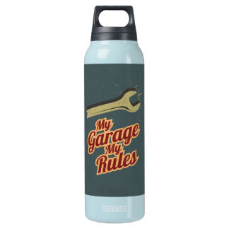 My Garage My Rules Insulated Water Bottle