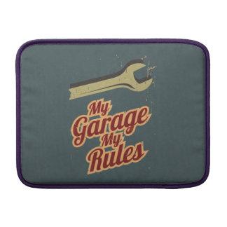 My Garage My Rules MacBook Sleeve