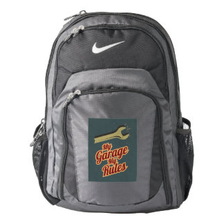My Garage My Rules Nike Backpack