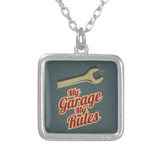 My Garage My Rules Silver Plated Necklace