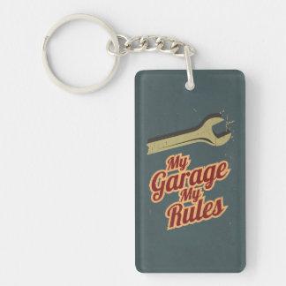 My Garage My Rules Single-Sided Rectangular Acrylic Keychain