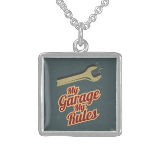 My Garage My Rules Sterling Silver Necklace