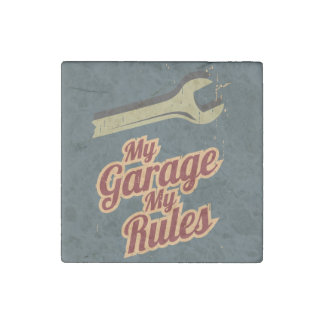 My Garage My Rules Stone Magnet