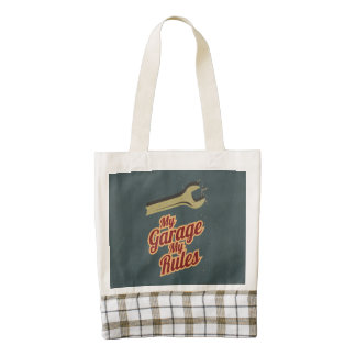 My Garage My Rules Zazzle HEART Tote Bag