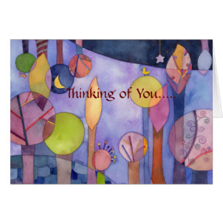 My Garden at Night: Thinking of You Card