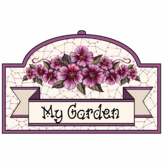 """My Garden"" - Decorative Sign - 07 Cutout"