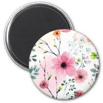 My Garden Flowers (watercolor technique) Magnet