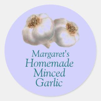 My Garden Garlic Sticker Label