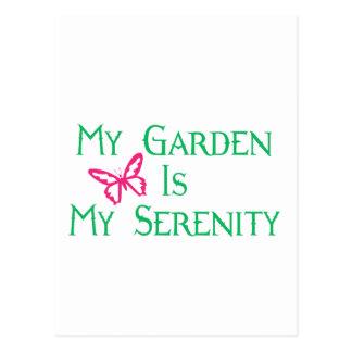 My Garden Is My Serenity Postcard