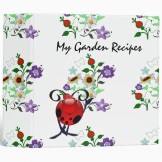 My garden recipes binder