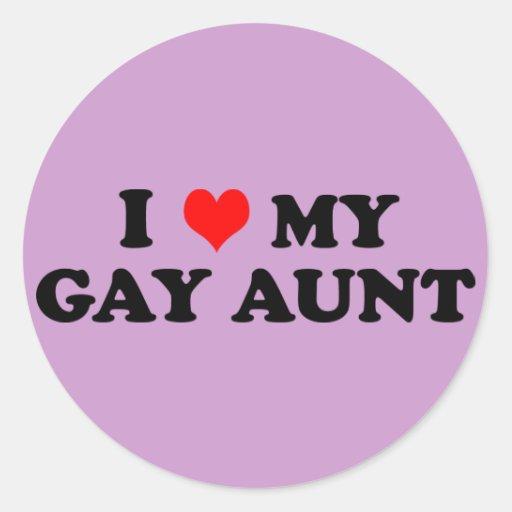 My Gay Aunt Classic Round Sticker