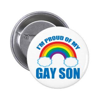 My Gay Son Pinback Button