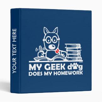 My geek dog does my homework binder