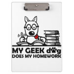 My geek dog does my homework clipboards