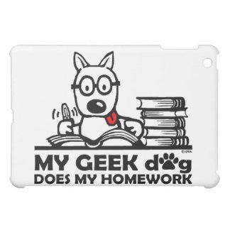 My geek dog does my homework iPad mini covers
