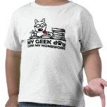 My geek dog does my homework t-shirt
