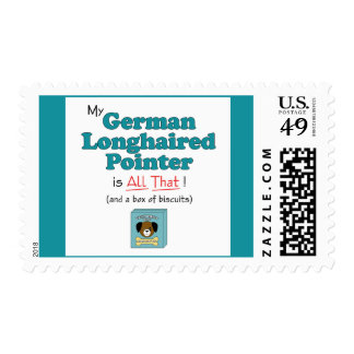 My German Longhaired Pointer is All That! Postage
