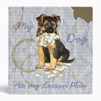 My German Shepherd Ate My Lesson Plan 3 Ring Binder
