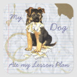 My German Shepherd Ate My Lesson Plan Square Sticker