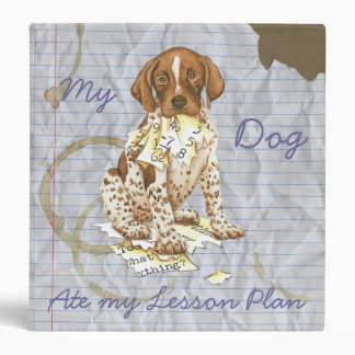 My German Shorthhaired Pointer Ate My Lesson Plan 3 Ring Binder