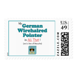 My German Wirehaired Pointer is All That! Stamps