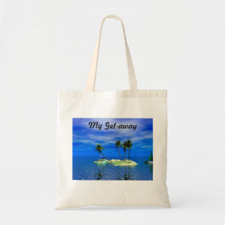 My Get-Away Tropical Island Beach Tote Bag Bags