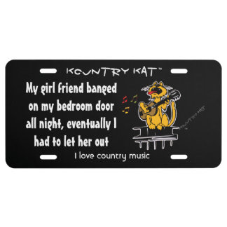 My girl friend banged  on my bedroom door  all license plate