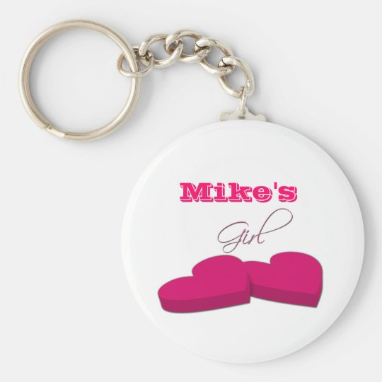 My Girl in Pink Keychain