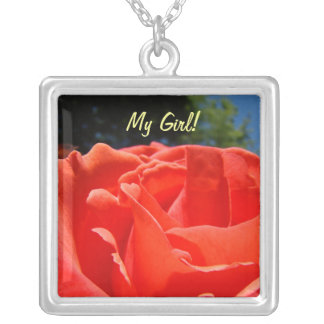 My Girl! necklace gifts Red Rose Sterling Silver