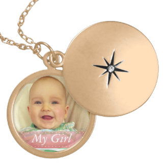 My Girl Pink Ribbon Personalized Locket Necklace