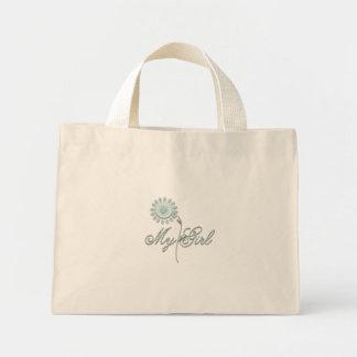 My Girl Teal Flower Mini Tote Bag
