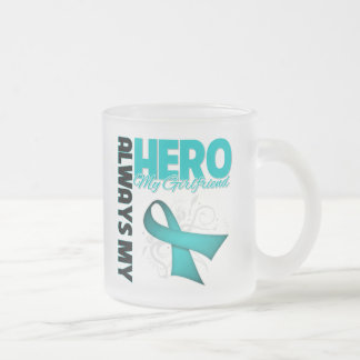 My Girlfriend Always My Hero - Ovarian Cancer Coffee Mug