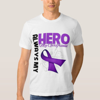 My Girlfriend Always My Hero - Purple Ribbon T-Shirt