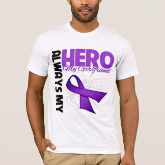 My Girlfriend Always My Hero - Purple Ribbon T-Shirt