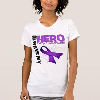 My Girlfriend Always My Hero - Purple Ribbon Shirt