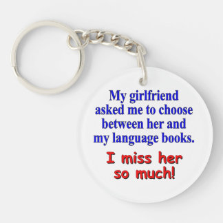 My girlfriend asked me to choose keychain