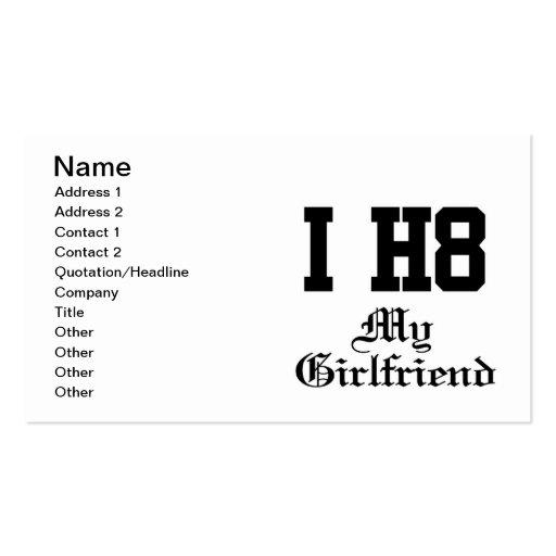 my girlfriend business cards