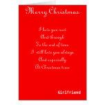 My girlfriend Christmas greeting cards
