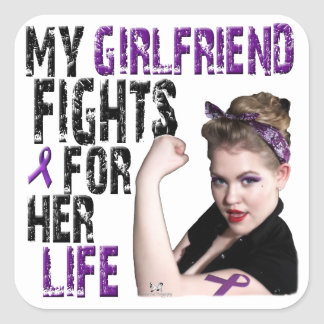 My GIRLFRIEND fights for her life... Square Sticker