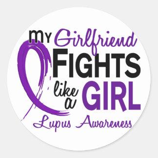 My Girlfriend Fights Like A Girl 10 Lupus Sticker