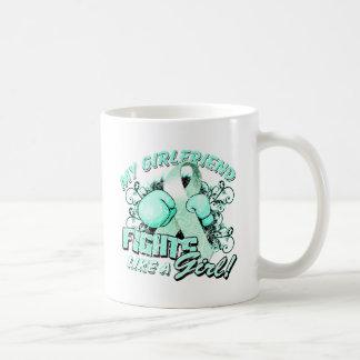 My Girlfriend Fights Like A Girl (T) teal Coffee Mug