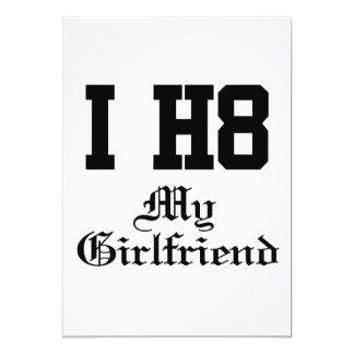 "my girlfriend 5"" x 7"" invitation card"
