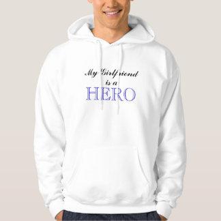My Girlfriend Is A Hero (NAVY) Hooded Sweatshirts