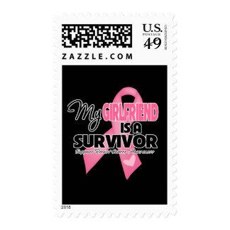 My Girlfriend is a Survivor - Breast Cancer Postage Stamp