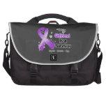 My Girlfriend is a Survivor Purple Ribbon Laptop Messenger Bag