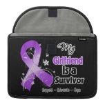 My Girlfriend is a Survivor Purple Ribbon Sleeves For MacBook Pro